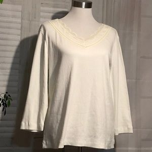 Tops - White Lace Embellished Top